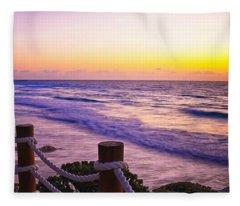 Sunrise In Cancun Fleece Blanket