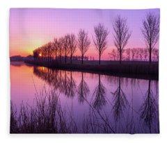 Sunrise In Holland Fleece Blanket