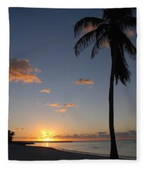 Sunrise In Key West 2 Fleece Blanket