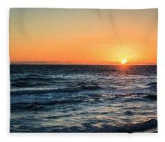 Sunrise In Nags Head Fleece Blanket