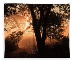 Sunrise In The Marsh 3 Fleece Blanket