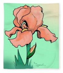 Sunrise Iris Fleece Blanket