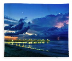 Sunrise Lightning Fleece Blanket