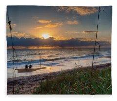 Sunrise Love Fleece Blanket