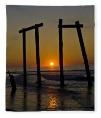 Sunrise At Ocean City Fleece Blanket