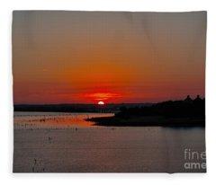 Sunrise On Lake Ray Hubbard Fleece Blanket