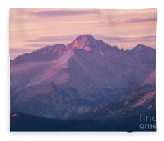 Sunrise On Longs Peak , Rocky Mountain Natinal Park, Colorado Fleece Blanket