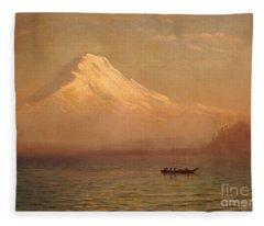 Sunrise On Mount Tacoma  Fleece Blanket