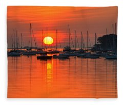 Sunrise On Salem Harbor Salem Ma Fleece Blanket