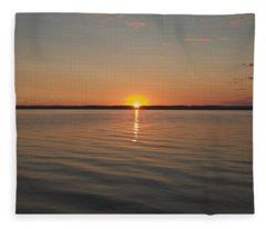 Sunrise On Seneca Lake Fleece Blanket