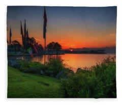 Sunrise On The Neuse 2 Fleece Blanket