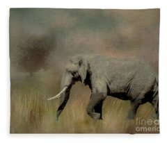Sunrise On The Savannah Fleece Blanket