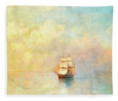 Sunrise On The Sea Fleece Blanket