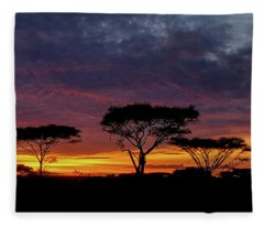 Sunrise On The Serengeti Fleece Blanket