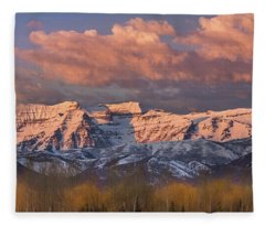 Sunrise On Timpanogos Fleece Blanket