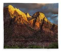 Sunrise On Zion National Park Fleece Blanket