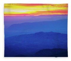 Sunrise Over Big Bend Fleece Blanket