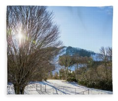 Sunrise Over Cataloochee Ski Fleece Blanket