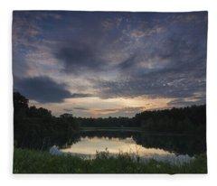 Sunrise Over Indigo Lake Fleece Blanket