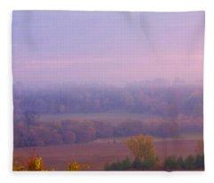 Sunrise Over Mid Valley 2 Fleece Blanket