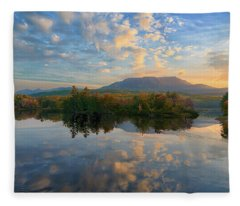 Sunrise Over Mt. Katahdin Fleece Blanket