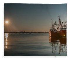 Sunrise Over New Bedford, Fleece Blanket