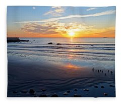 Sunrise Over Red Rock Park Lynn Shore Drive Fleece Blanket