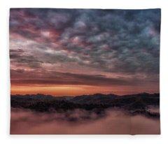 Sunrise Over The Breaks Fleece Blanket