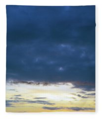 Sunrise Over The Cascades Fleece Blanket