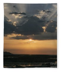 Sunrise Over The Isle Of Wight Fleece Blanket