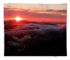 Sunrise Over Wyvis Fleece Blanket