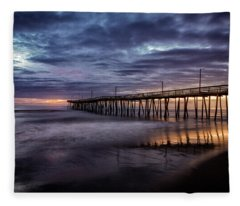 Sunrise Pier Fleece Blanket