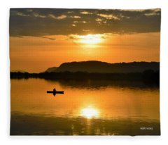 Sunrise Reflection Fleece Blanket