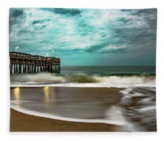 Sunrise Sandbridge Virginia Fleece Blanket