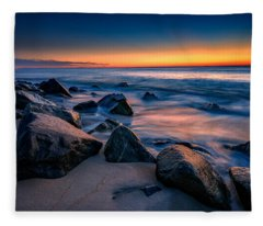Sunrise, Sandy Hook Fleece Blanket