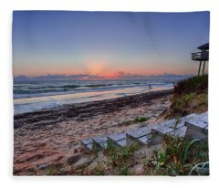 Sunrise Stairs Fleece Blanket