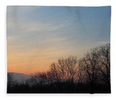 Fall Sunset Fleece Blanket
