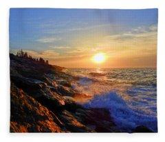 Sunrise Surf Fleece Blanket