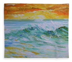 Sunrise Surf Fleece Blanket