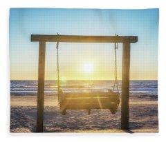 Sunrise Swings Fleece Blanket