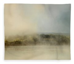 Sunrise Through The Fog Fleece Blanket