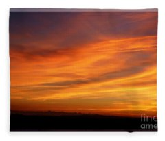 Sunset 10 Fleece Blanket