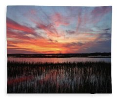 Sunset And Reflections 2 Fleece Blanket