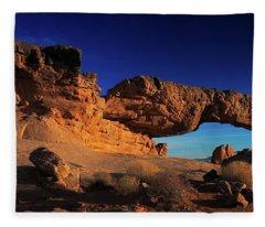 Sunset Arch Pano Fleece Blanket