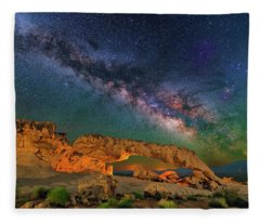 Sunset Arch Fleece Blanket
