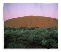 Sunset At Ayre's Rock Fleece Blanket