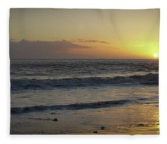 Sunset At Barry Fleece Blanket