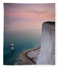 Sunset At Beachy Head Fleece Blanket