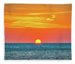 Sunset At Captiva Fleece Blanket