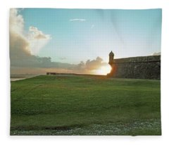 Sunset At El Morro Fleece Blanket